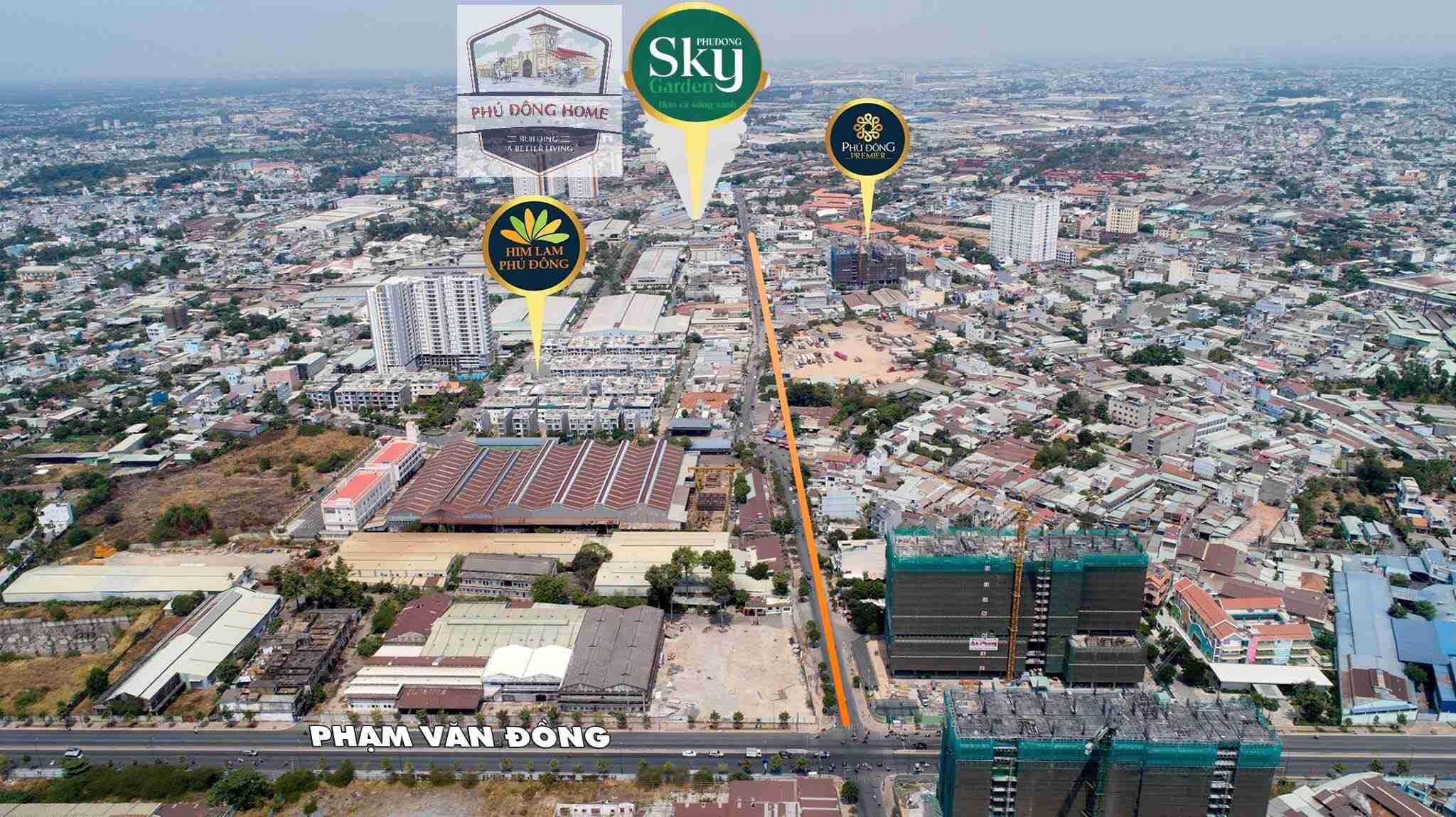 vị trí dự án căn hộ phú đông sky garden