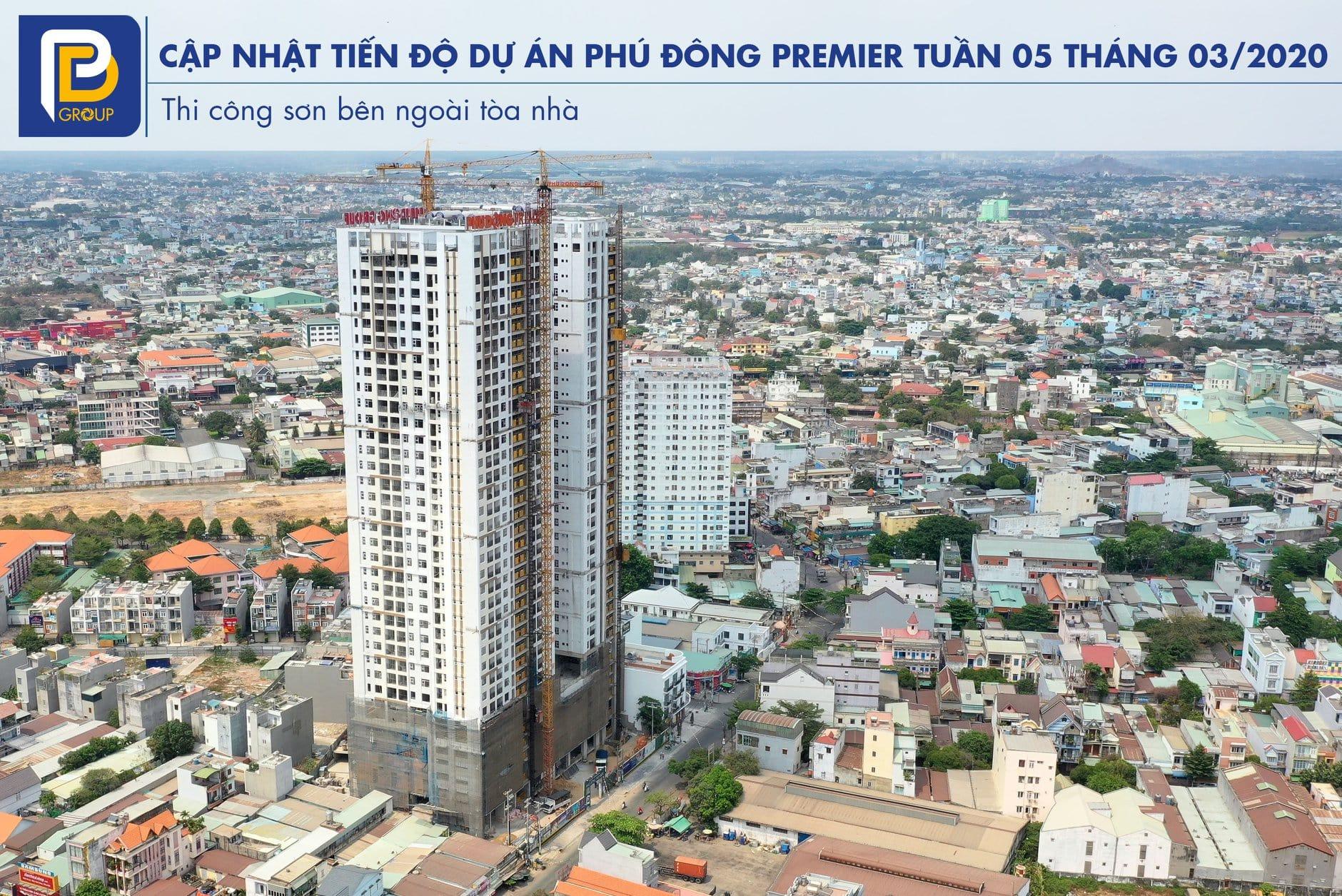 Một số hình ảnh thi công thực tế của Phú Đông Premier tháng 3/2020